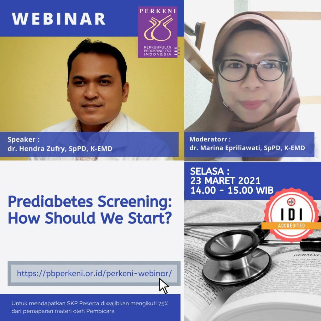 Prediabetes Screening : How Should We Start